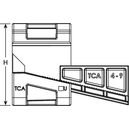 HellermannTyton Wedge Clip 0.16 Inch (151-01566)