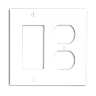 Leviton 80746-E 1Dup/1Decora Nyl Wp (80746-E)