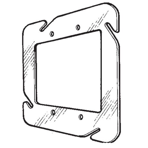 Mulberry Metal 4-11/16 2G Switch Cover Flat (11335)