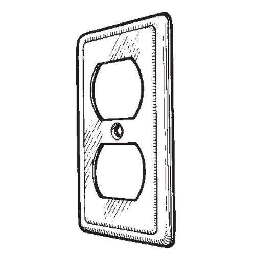 Mulberry Metal Duplex Receptacle Utility Cover (10002)