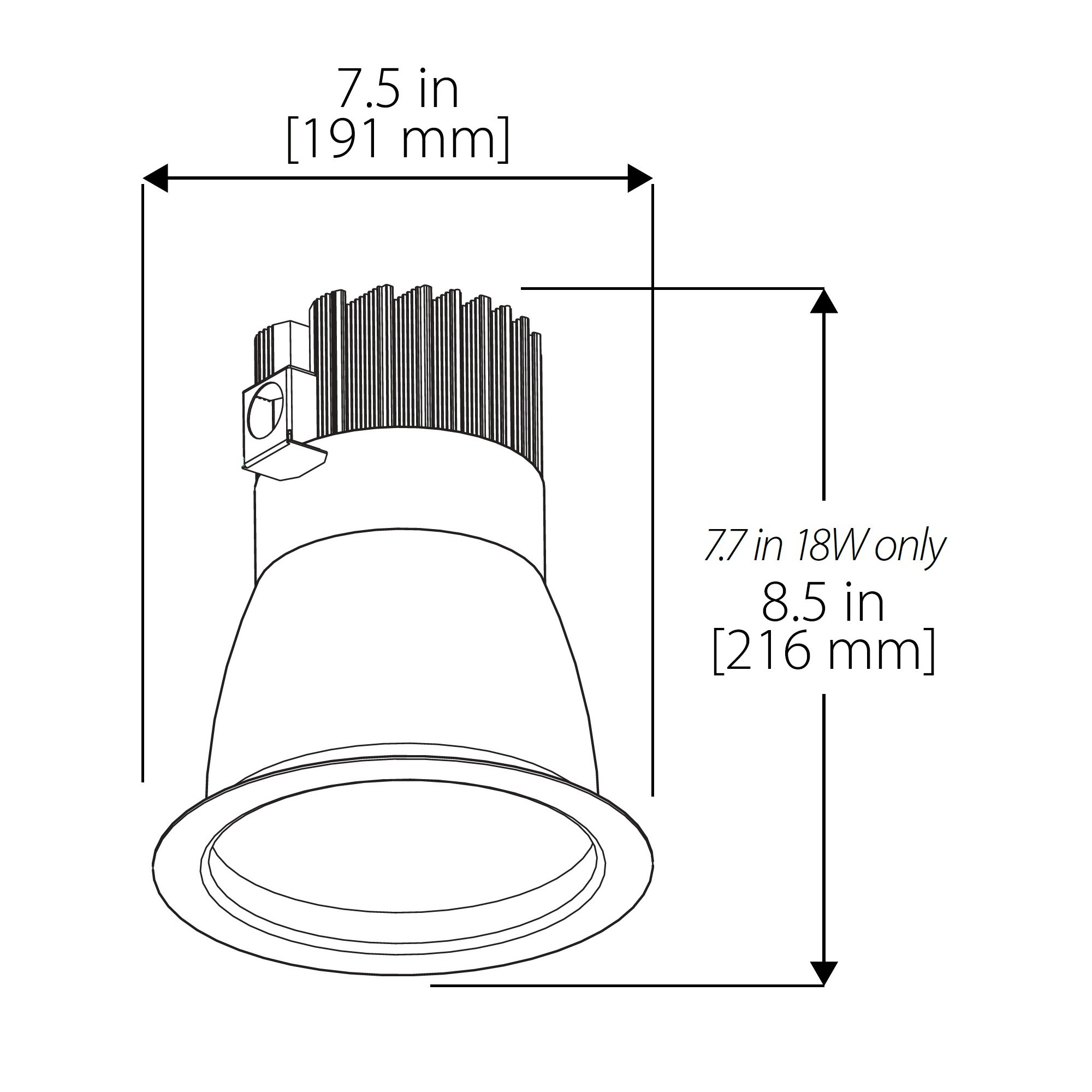 Nicor Cdr6 18w 40k Sn 4 Inch Commercial Led Downlight 14 Wat