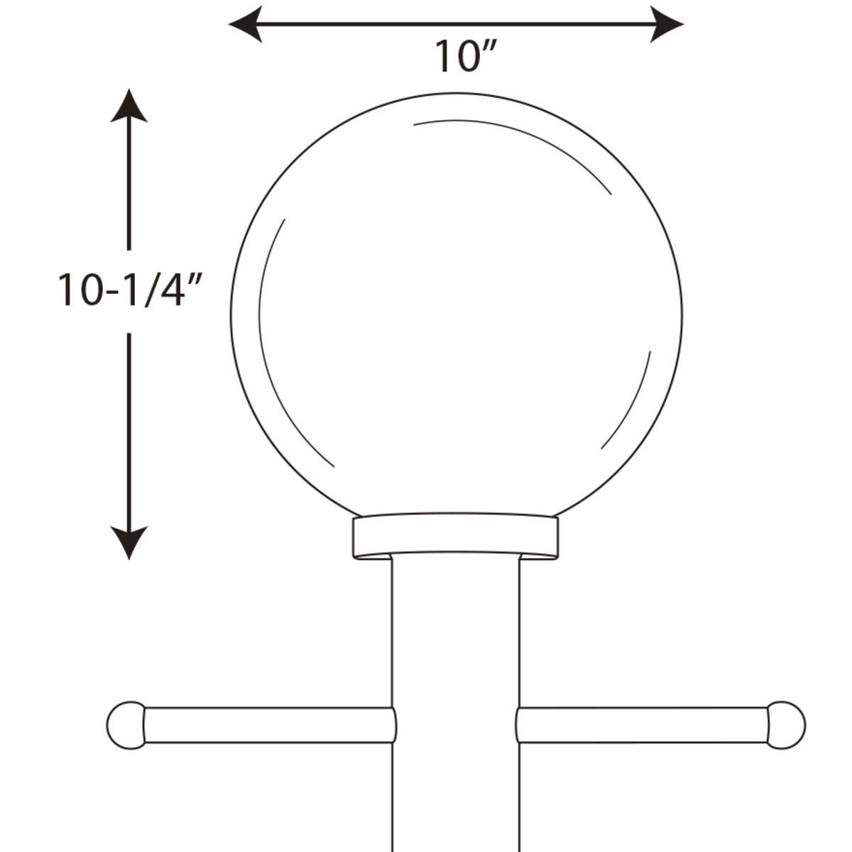 Progress Lighting Acrylic Globe One Light Post Lantern