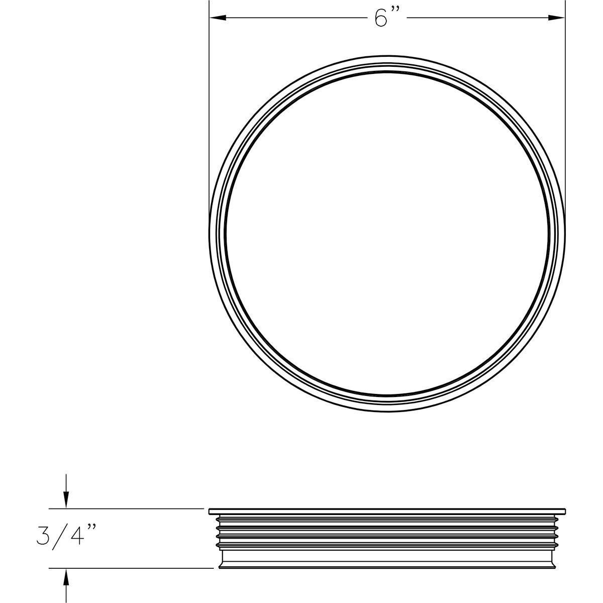 Progress Lighting Cylinder Lens Collection Black 6-Inch