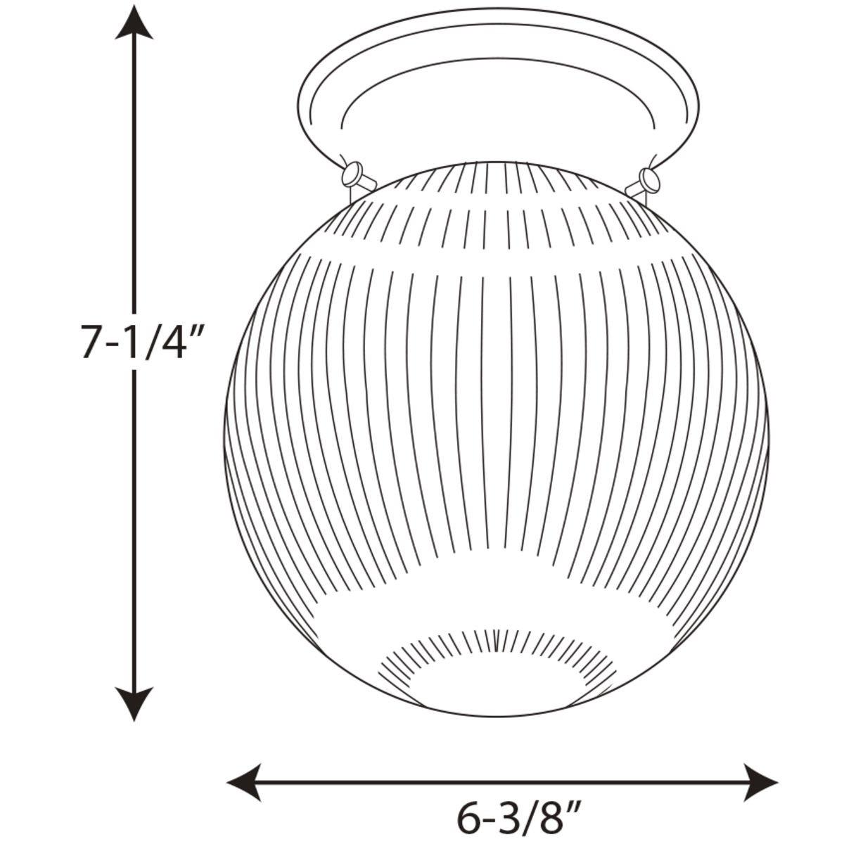 Progress Lighting One-Light Glass Globe 6-3/8 Inch Close