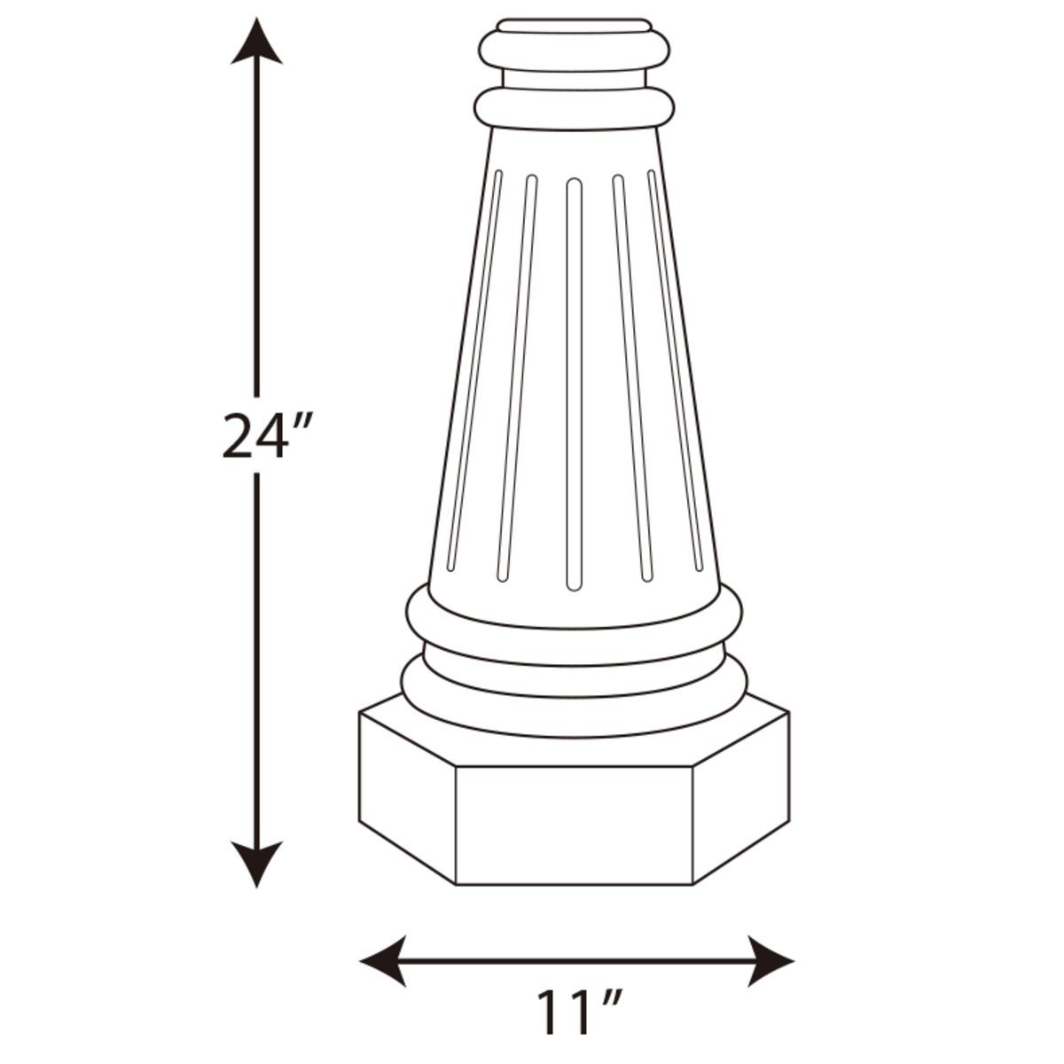 Progress Lighting Outdoor Pole Base for 3 Inch Round Posts