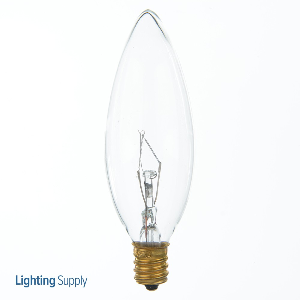 Satco S3283 40 Watt Ba9-1/2 Incandescent; Clear; 1500 Averag