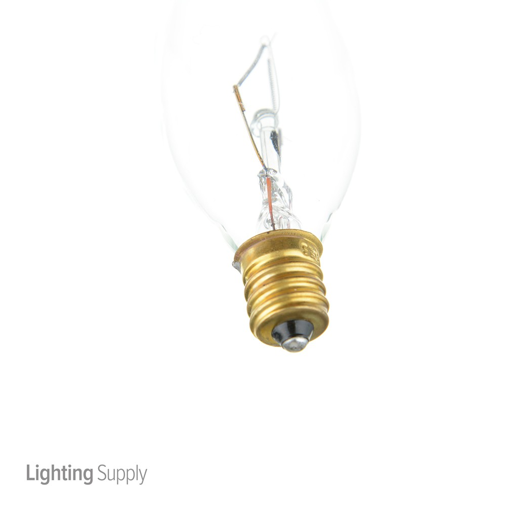 Satco A3662 60 Watt Ca10 Incandescent; Clear; 2500 Average R