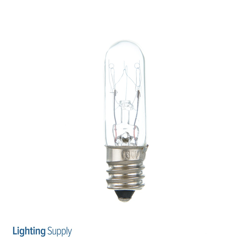 Satco 15T4 1/2/C 15 Watt T4-1/2 Incandescent; Clear; 1000 Av