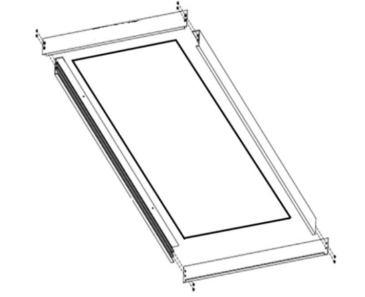 TechBrite SURFACE MOUNT FRAME 2X4 2X4 Surface Mount Kit (Sur