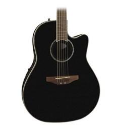 ovation celebrity cc24 mid depth acoustic elec guitar in black [ 2500 x 2500 Pixel ]