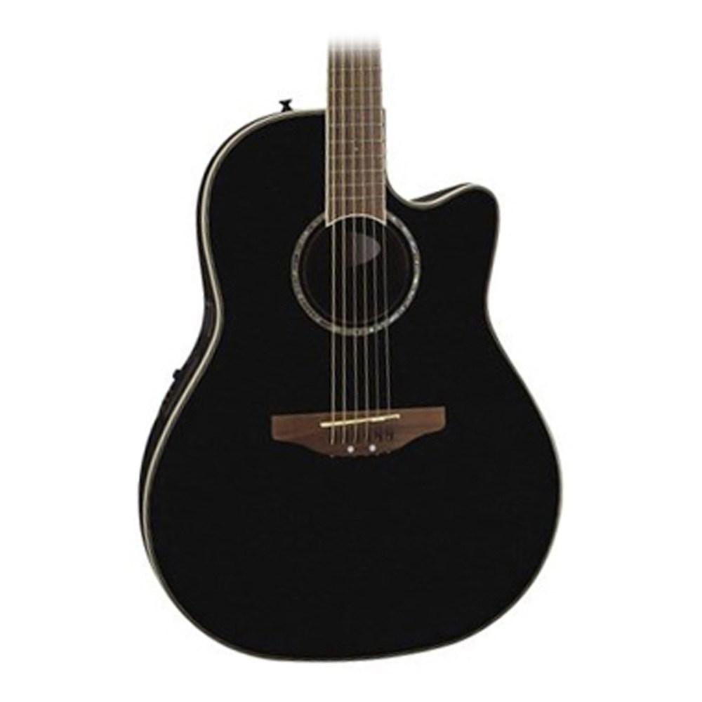 medium resolution of ovation celebrity cc24 mid depth acoustic elec guitar in black