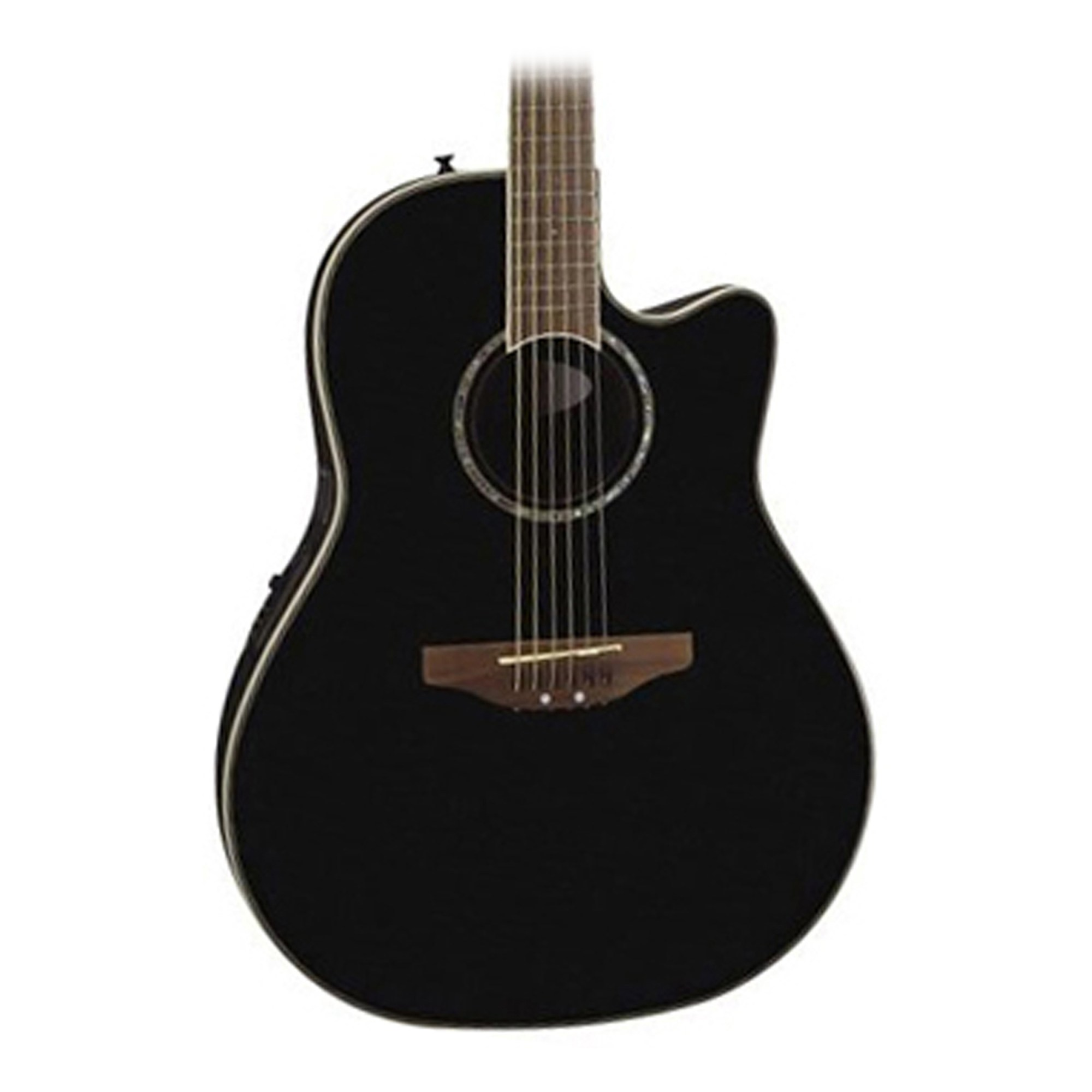 hight resolution of ovation celebrity cc24 mid depth acoustic elec guitar in black