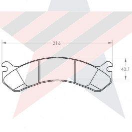 PFC Brakes Rear Disc Brake Pad Set for 2007-2010 Chevrolet