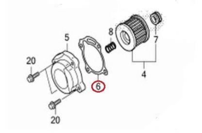 Genuine honda spare part 15412-KYJ-901, GASKET,OIL FILTER