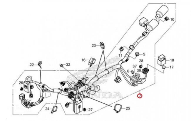 Genuine honda spare part 32100-KZZ-J00, HARNESS WIRE