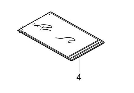 Genuine honda spare part 77250-KZZ-900, BAG,OWNERS MANUAL