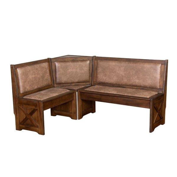 Savannah Corner Bench With Cushion Seat And Sunny