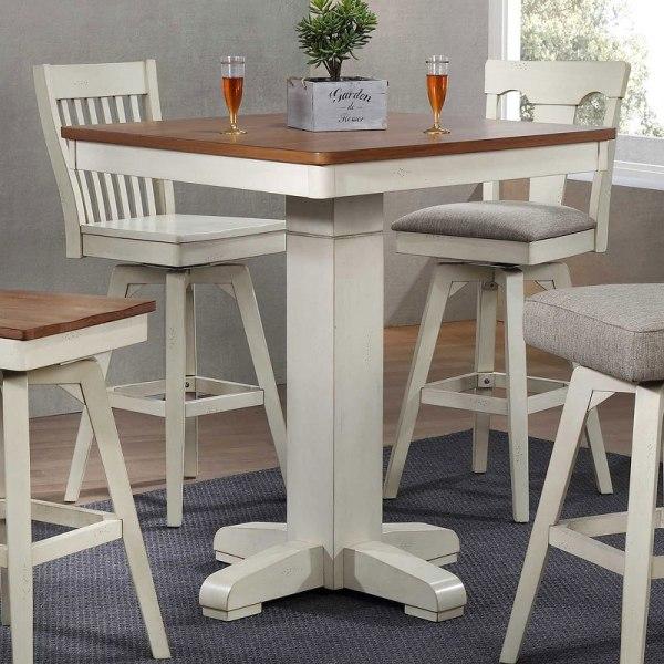 Antique White Pub Table Eci Furniture Cart