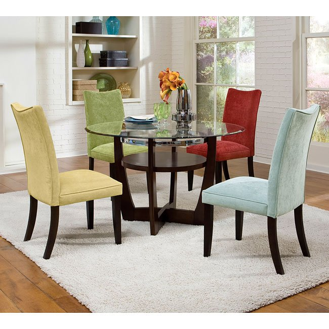 Apollo Dining Room Set W Multicolor Chairs Standard