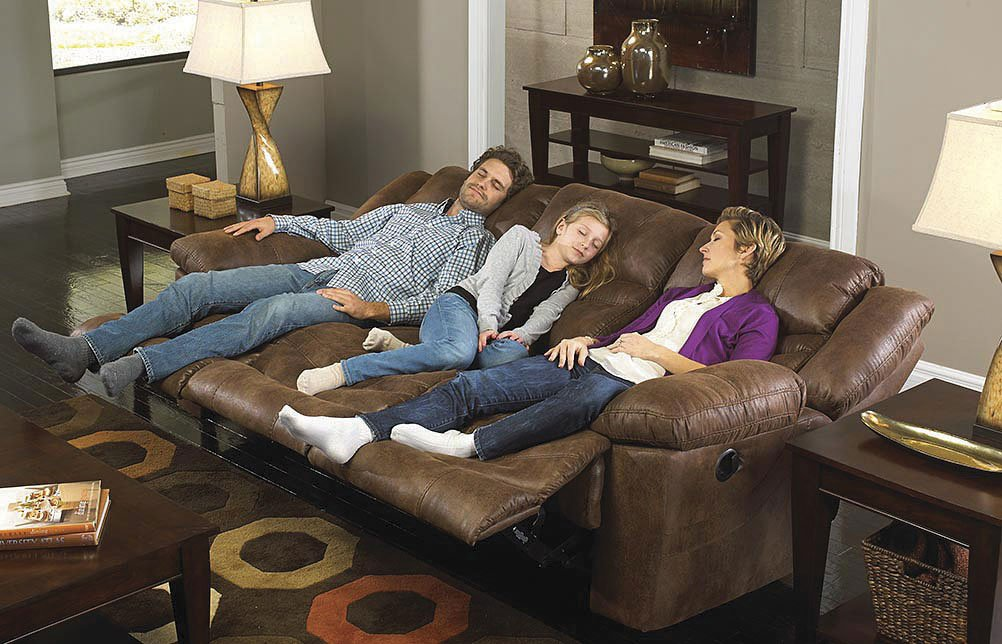 triple reclining sofa bed melbourne australia valiant w drop down table elk catnapper