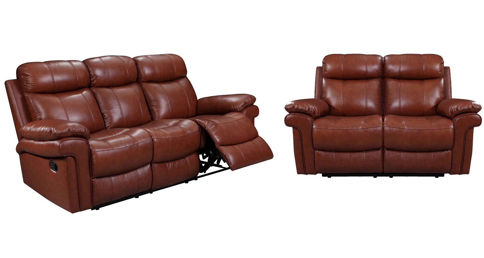 power reclining leather sofa sets small sectional dimensions joplin living room set saddle