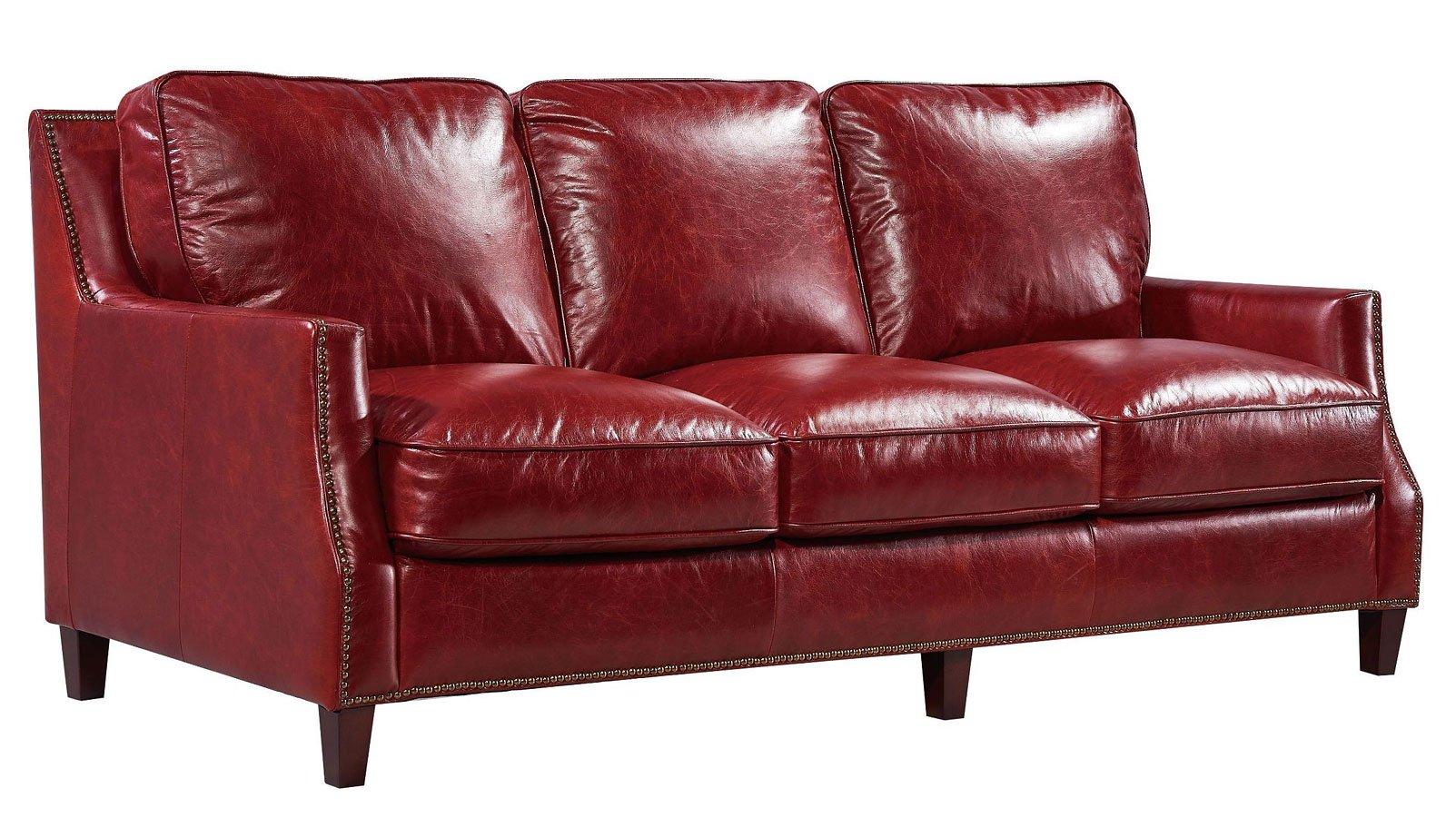 leather italia sofa furniture ikea hovas slipcover oakridge red cart
