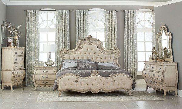 Elsmere Panel Bedroom Set Homelegance 2 Furniture Cart