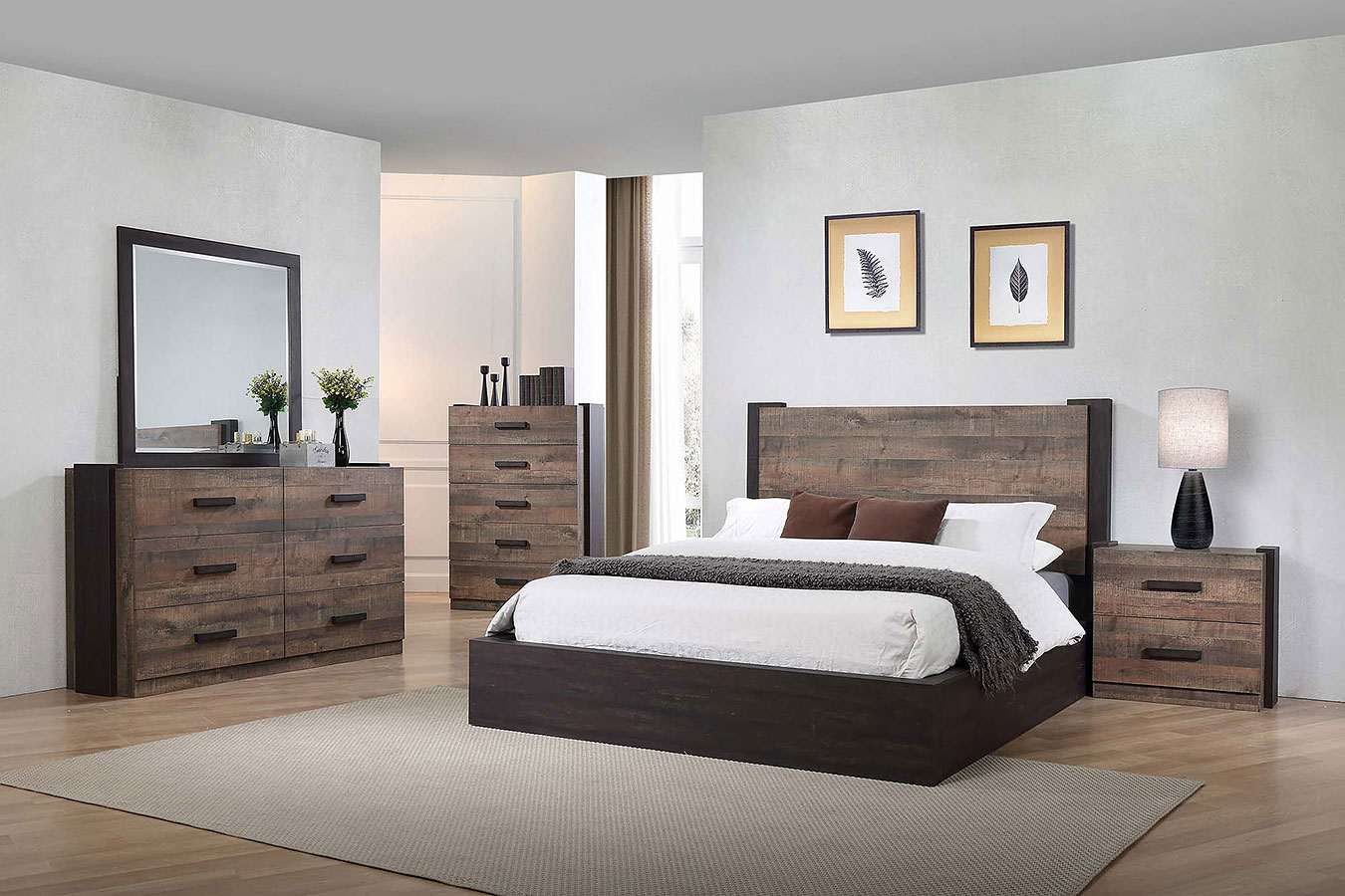 Weston Platform Bedroom Set Coaster Furniture  Furniture Cart