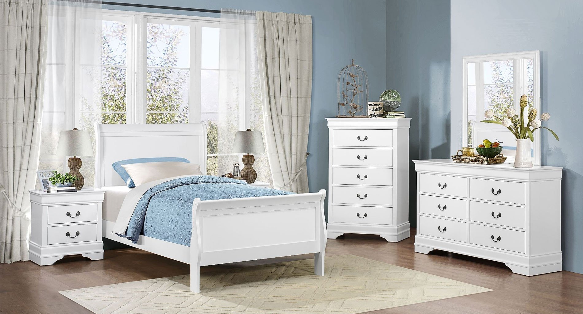 Mayville Youth Bedroom Set White Homelegance  Furniture