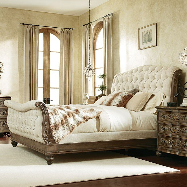 Jessica McClintock The Boutique Sleigh Bed Baroque