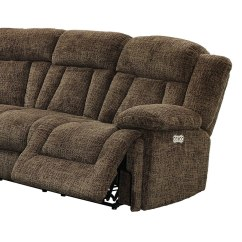 Sofa Rph T Cushion Slipcover Pattern Laura Modular Power Reclining Sectional Chocolate New Classic Right Recliner W Headrest By Furniture