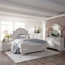 Magnolia Manor Antique White Panel Bedroom Set Liberty