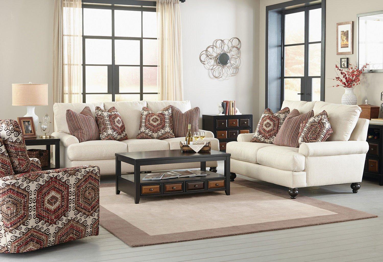 Westchester Living Room Set Chilipepper Pillows Jackson