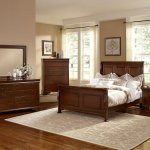 French Market Sleigh Bedroom Set French Cherry Vaughan Bassett Furniture Cart