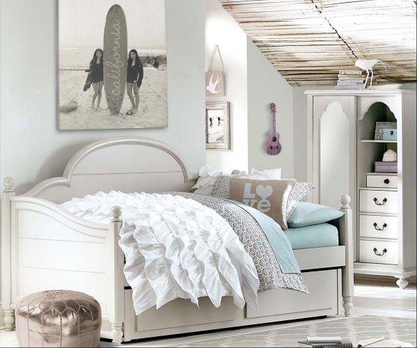 Inspirations Westport Panel Daybed Bedroom Set Mist Gray