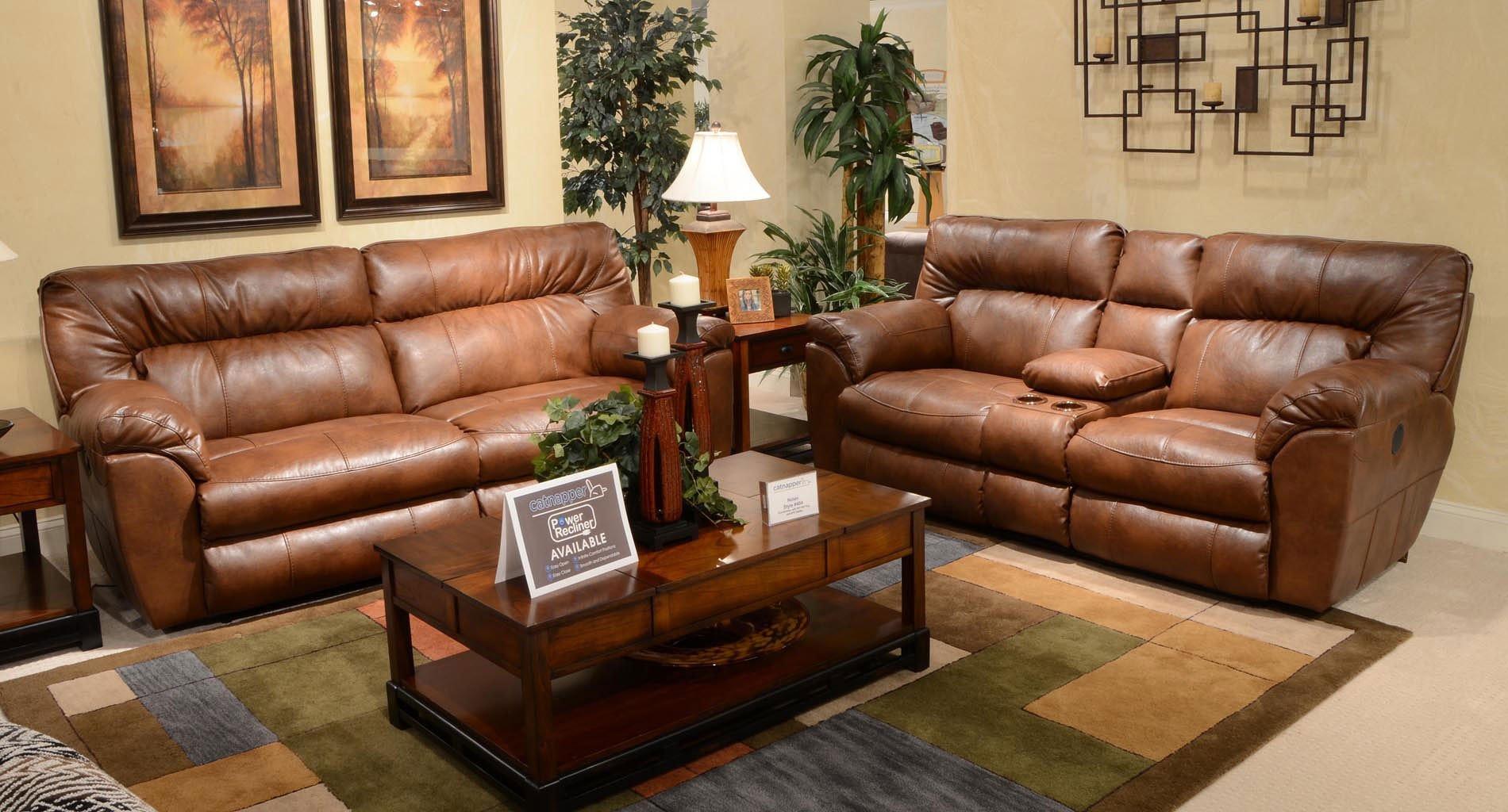 nolan power reclining sofa buchannan microfiber sectional with reversible chaise black living room set chestnut catnapper
