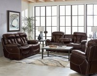 Peoria Reclining Living Room Set (Toffee) Standard ...