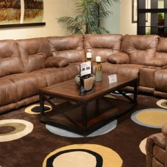 Voyager Lay Flat Triple Reclining Sofa Short Seat Depth Sectional Set Elk Catnapper