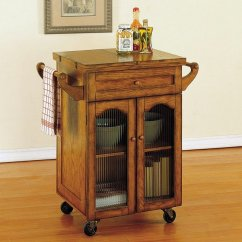 Oak Kitchen Cart Modern Faucets Stainless Steel Noble Powell Furniture