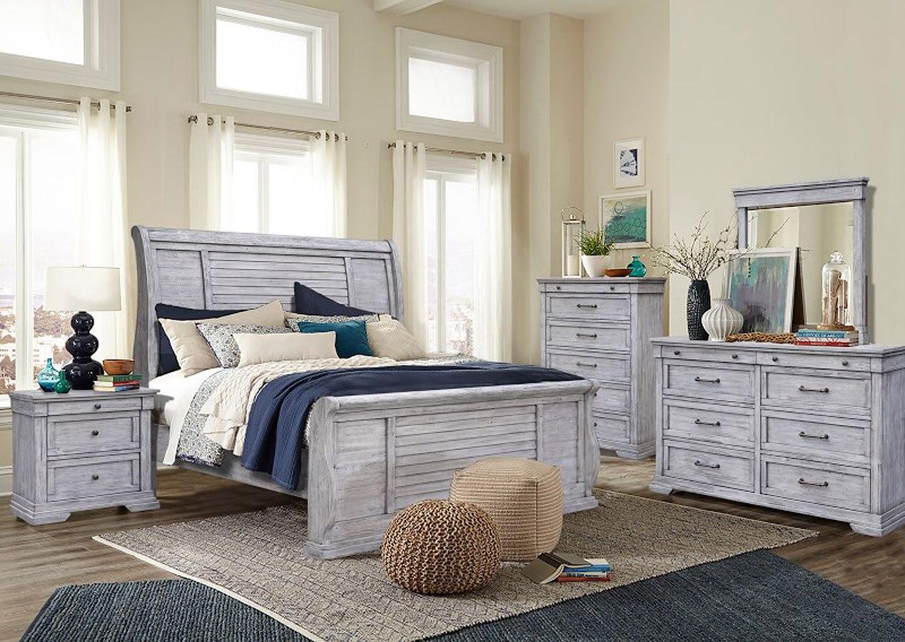 cottage lake sleigh bedroom set cottage creek furniture furniture cart