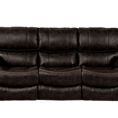 Black Reclining Sofa With Console Bright Red Leather Beckett Catnapper Furniture Cart