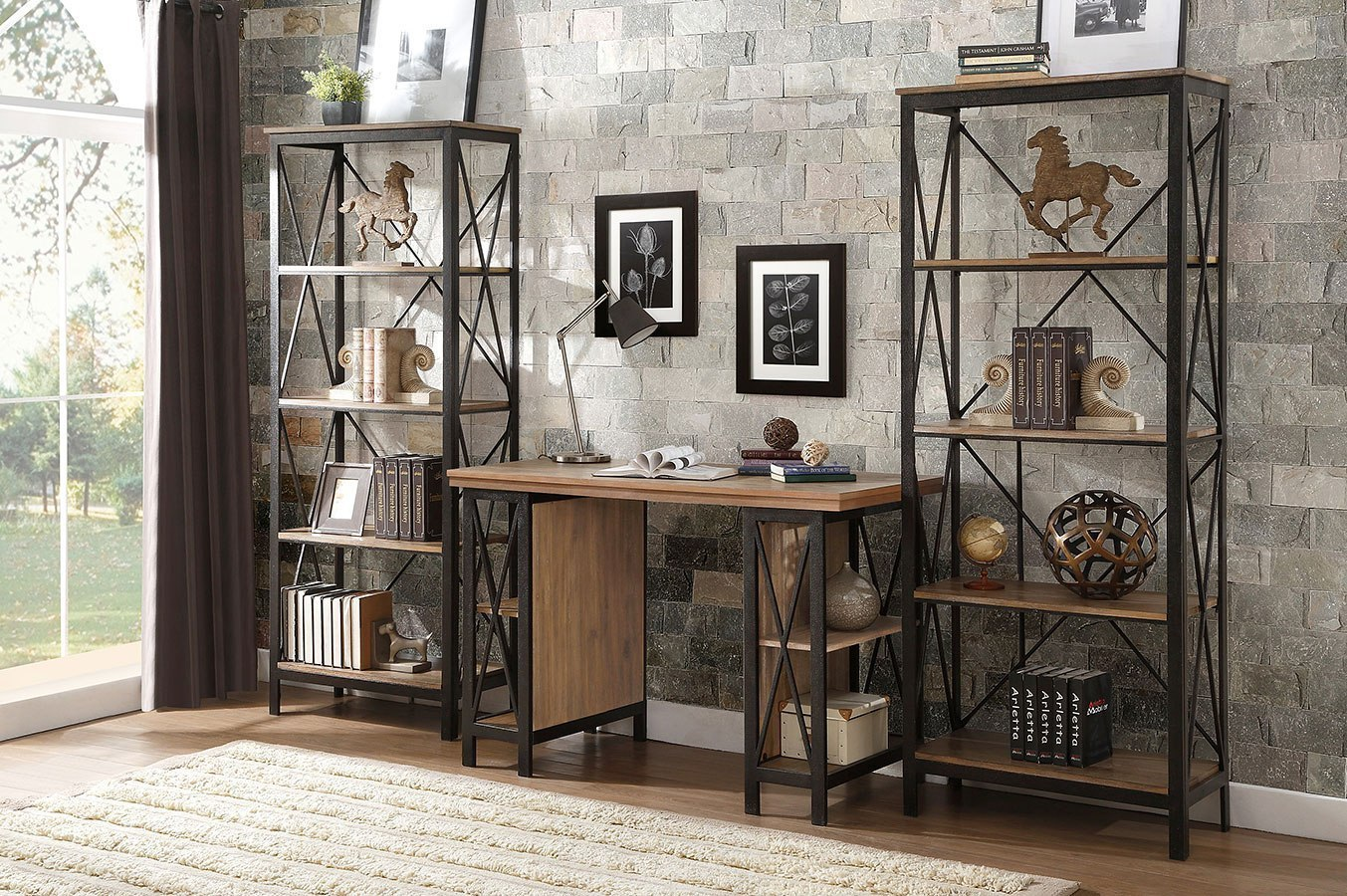 Penpoint Counter Height Home Office Set Homelegance