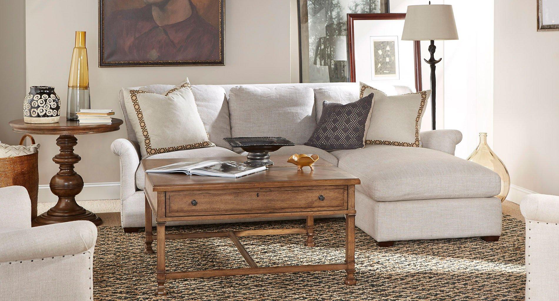 Haven Sofa Chaise Living Room Set (Belgian Linen