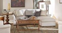 Haven Sofa Chaise Living Room Set (Belgian Linen ...