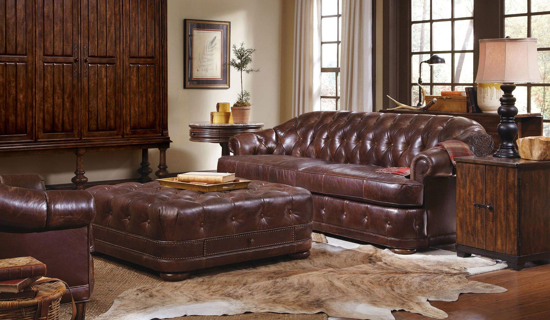 Kennedy Walnut Living Room Set W Chesterfield Sofa ART