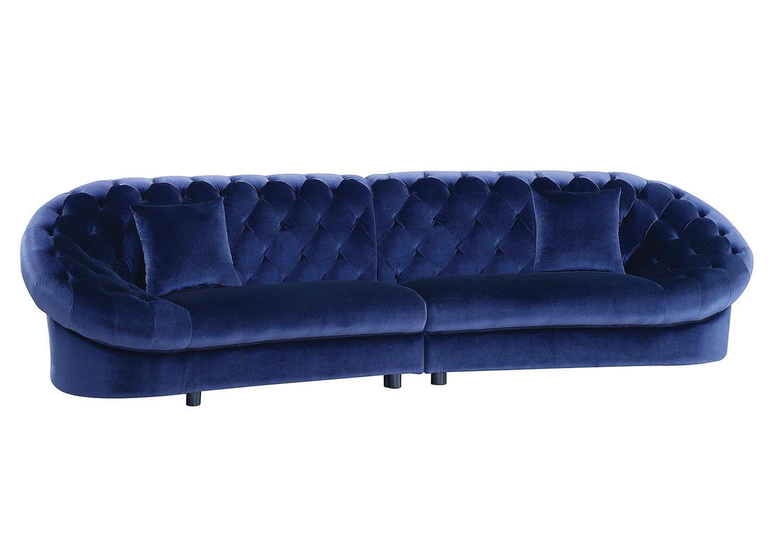 romanus sectional sofa royal blue