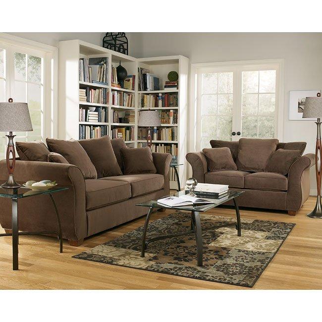 Chandler  Walnut Living Room Set Signature Design By