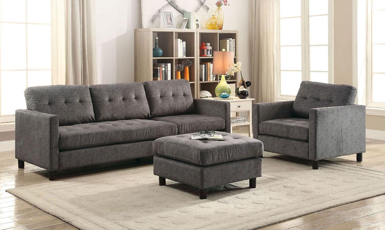 Caesar 3Piece Living Room Set Acme Furniture  Furniture Cart