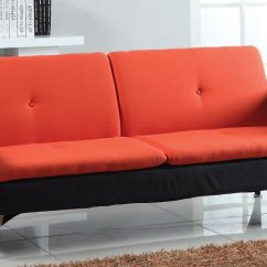 Orange And Black Sofa Bed Malibu Jonathan Adler Kimber Acme Furniture Cart
