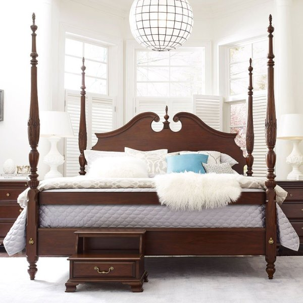 Hadleigh Rice Carved Poster Bed Kincaid Furniture 2